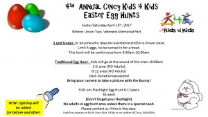 4th Annual Cincy Kids 4 Kids Easter Egg hunt